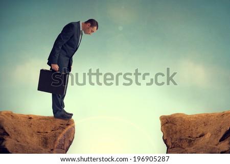 businessman nervously facing an ...
