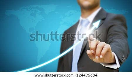 Businessman new technology concept