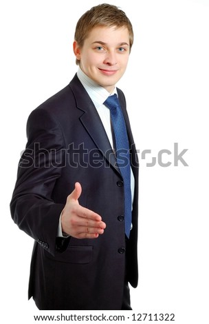 Businessman offering a handshake
