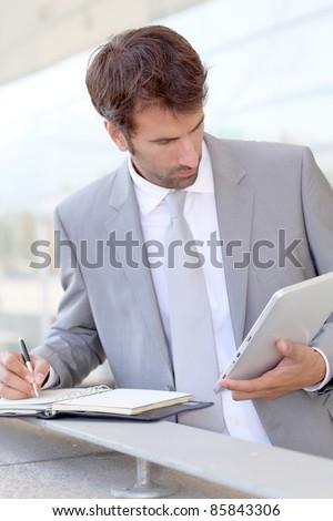 Businessman on business travel