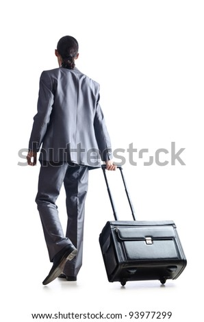 Businessman on his travel days