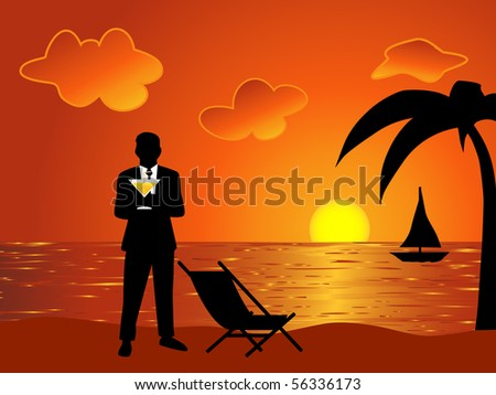 Businessman on the vacation