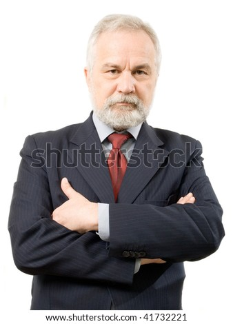 Businessman on white background (isolated).