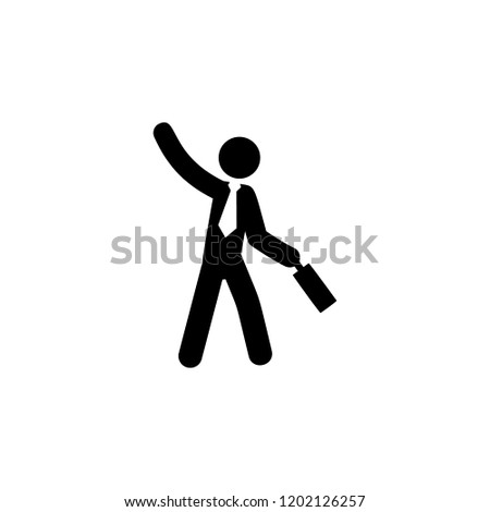 businessman, optimistic icon. Element of businessman icon for mobile concept and web apps. Detailed businessman, optimistic icon can be used for web and mobile