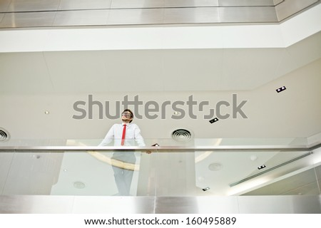 businessman photographed from distance