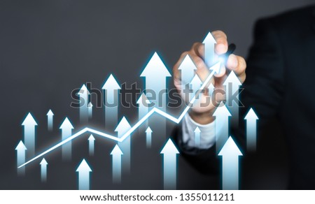 Businessman plan the growth of business. Growth and development concept. #1355011211