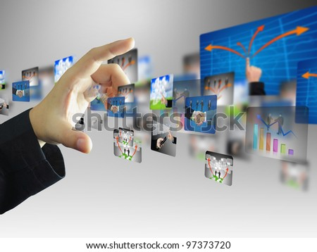 Businessman press business collection