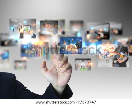 Businessman press business collection