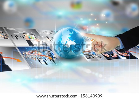 businessman press business world  #156140909