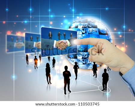 businessman press Successful business