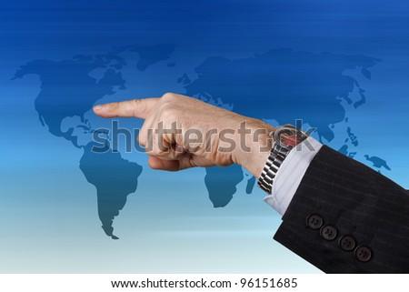 Businessman pressing