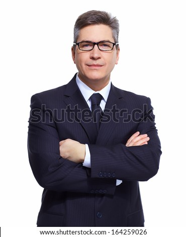 Businessman. Professional accountant and bookkeeper portrait.