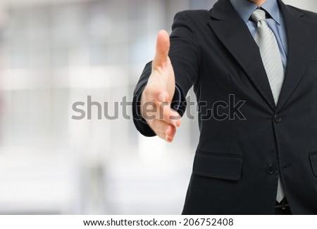 Businessman ready for an handshake #206752408