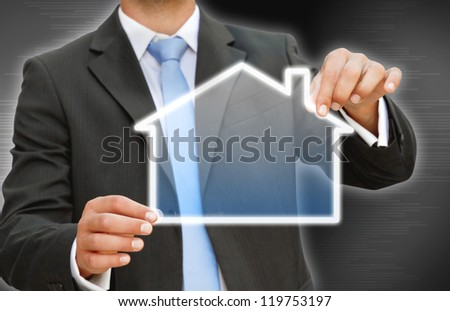 Businessman real estate concept
