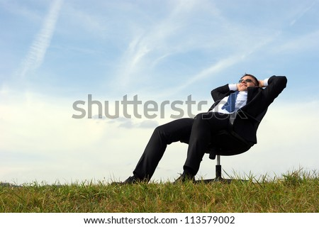 businessman relax