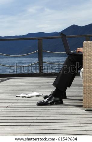 businessman relaxing