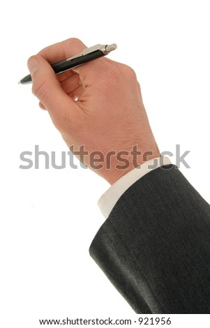 Businessman's Hand Holding a Pen