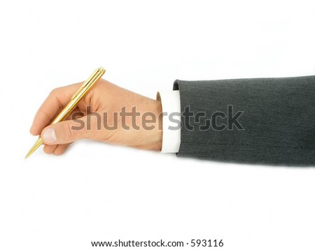 Businessman's Hand Holding Pen