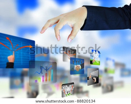 businessman select business collection