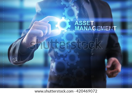Businessman selecting Asset management.