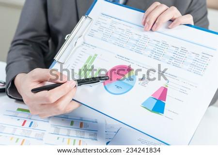 Businessman show report, business performance concept