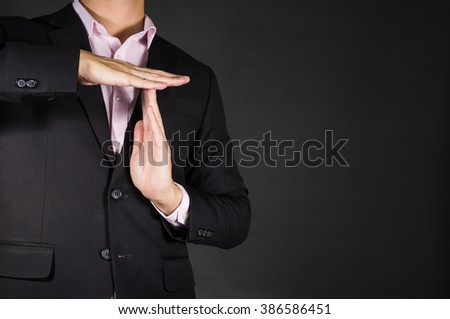 Free Photos Businessman Showing A Pause Time Out Gesture With Hands
