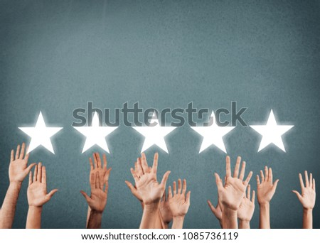 Businessman showing hand sign hand up #1085736119