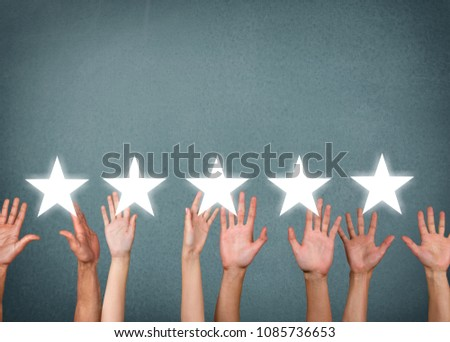 Businessman showing hand sign hand up #1085736653