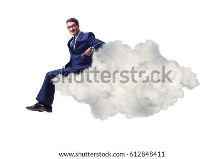 businessman sitting on the...