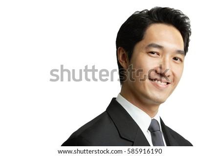 Businessman smiling at camera, head shot #585916190