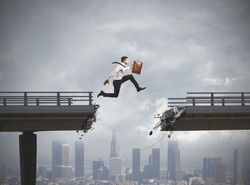 Businessman solves the problem of a broken bridge