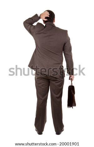businessman standing with his backs facing the camera