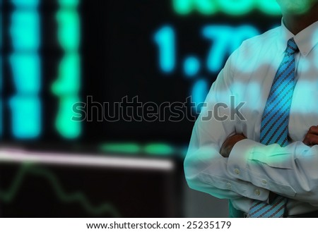 Businessman Stock Exchange - stock photo