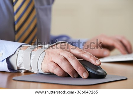 Businessman Suffering From Repetitive Strain Injury (RSI) #366049265