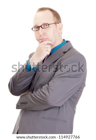 Businessman thinking about a new idea