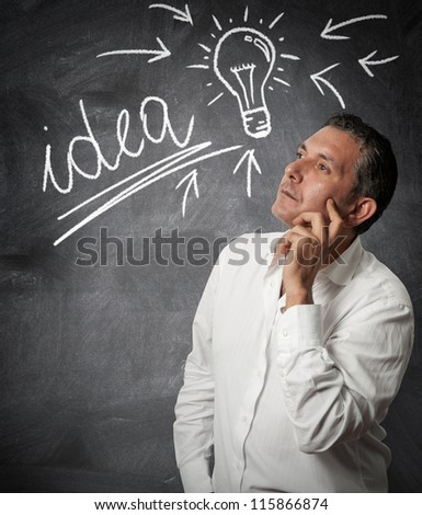 Businessman thinking about new ideas