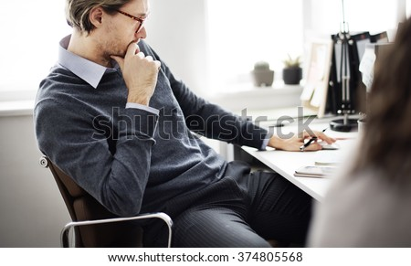 Businessman Thinking Ideas Strategy Working Concept #374805568