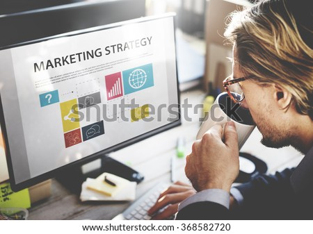 Businessman Thinking Planning Working Marketing Strategy Concept