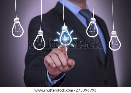 Businessman Touching Idea Conceptual #275396996