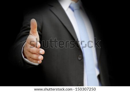 Businessman touching tactile interface