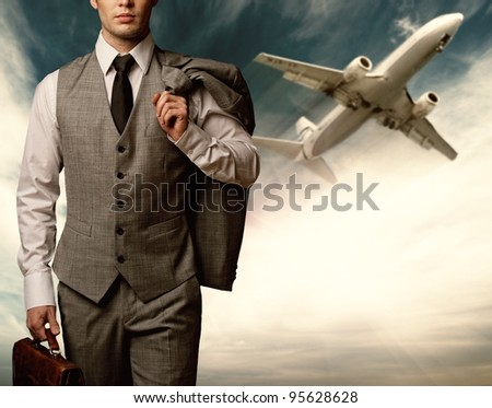 Businessman traveling concept.