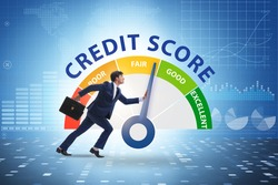 Businessman trying to improve credit score