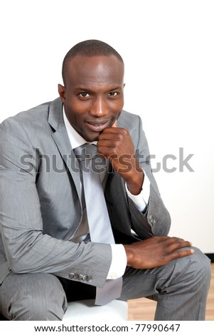 Businessman waiting for an interview