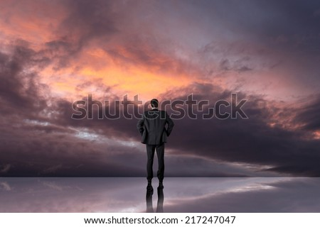 Businessman walking on journey to success as a business metaphor for entrepreneurship