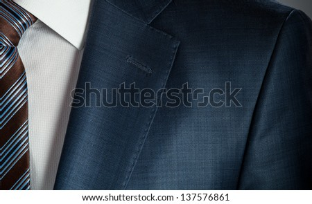Businessman wearing formal suit and tie