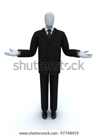 businessman weighs