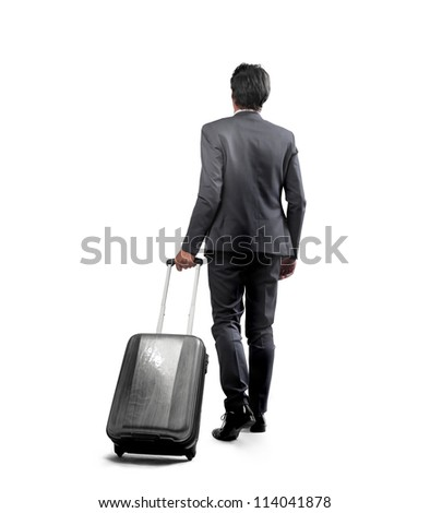 Businessman with a luggage