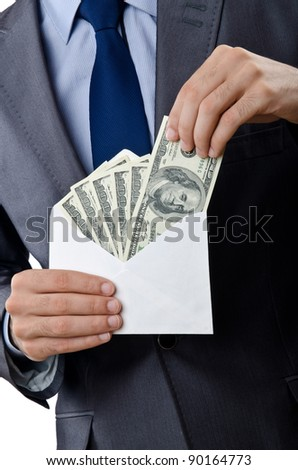 Businessman with american dollars