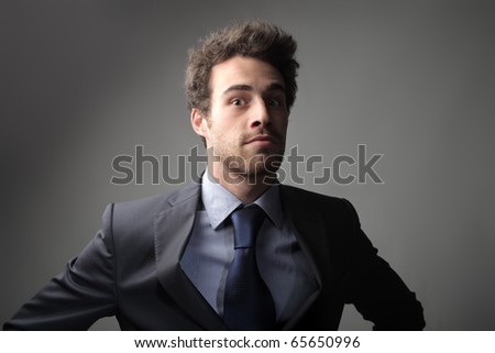 Businessman with astonished expression