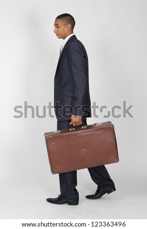 businessman with baggage